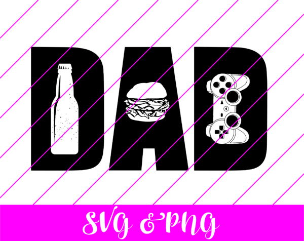 Dad Letters SVG