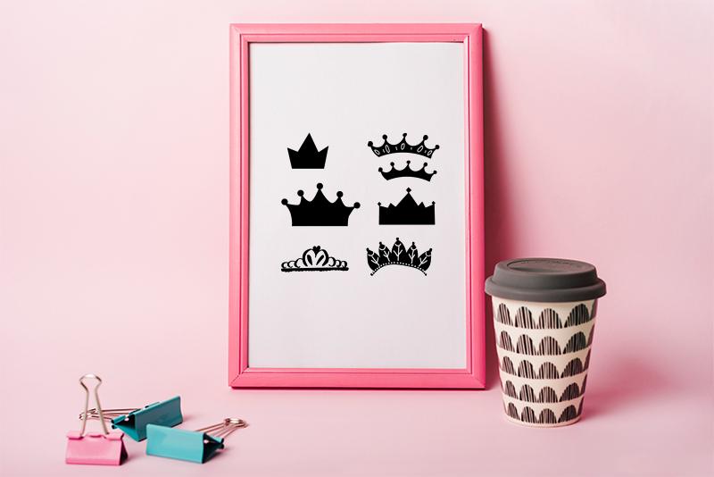 princess crown svg