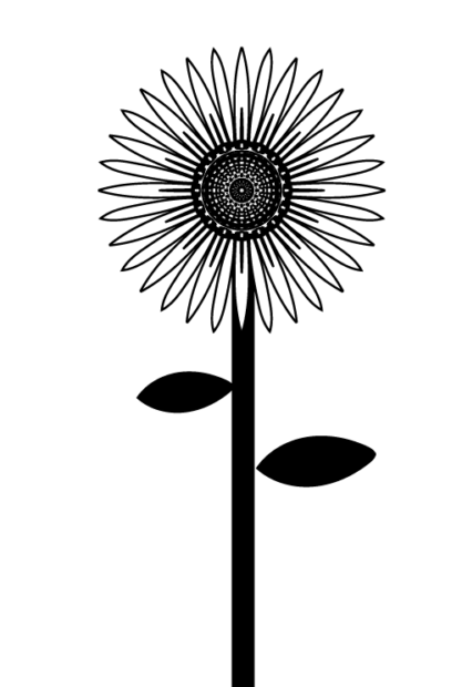 sunflower with stem svg