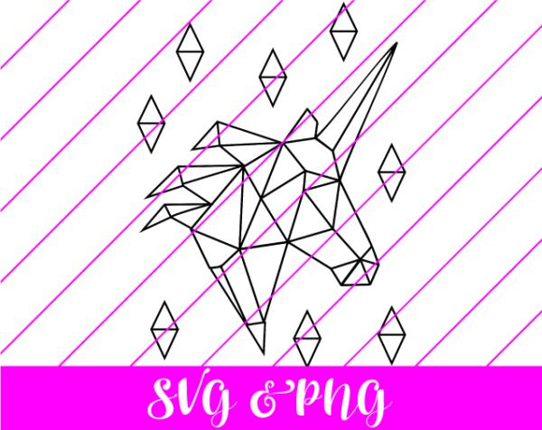 geometric unicorn svg