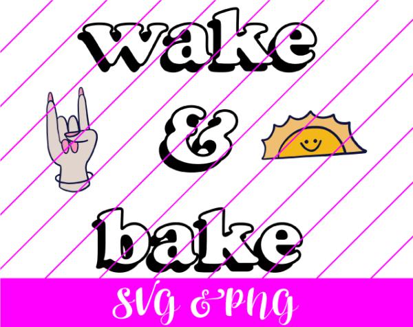 wake and bake svg