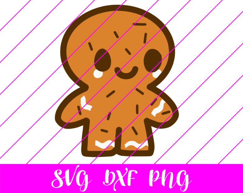 Gingerbread man 2 svg
