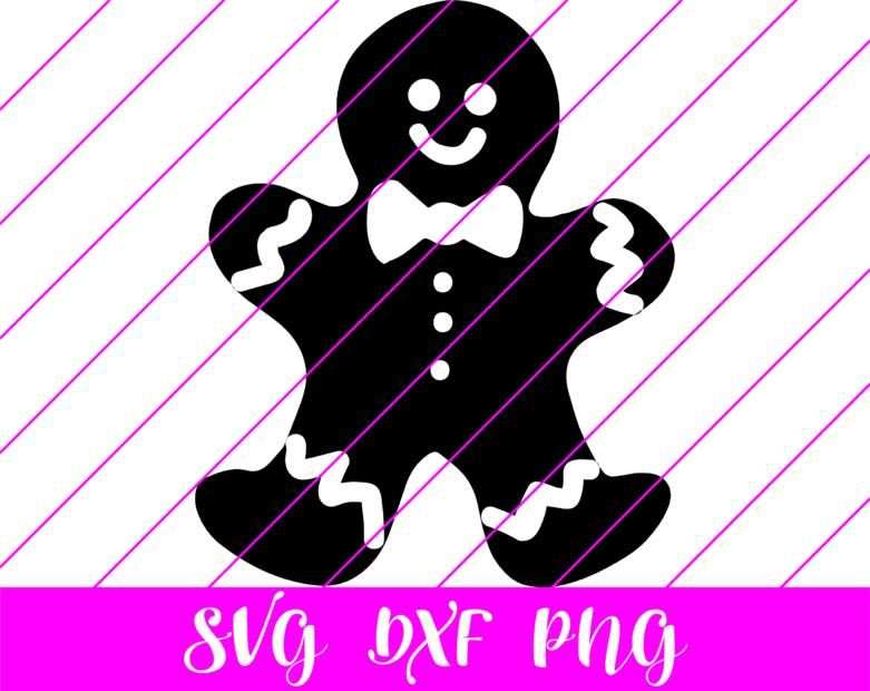 Gingerbread man bw svg