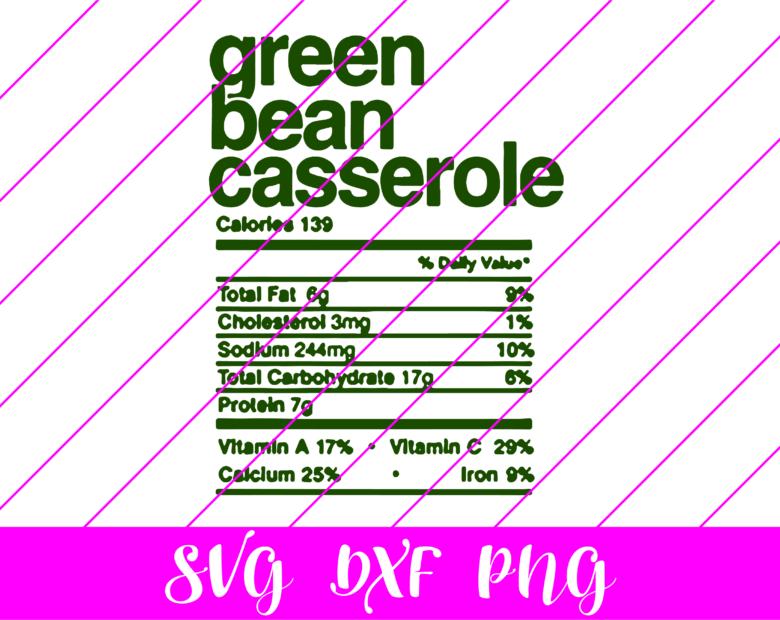 thanksgiving nutrition facts green bean casserole svg