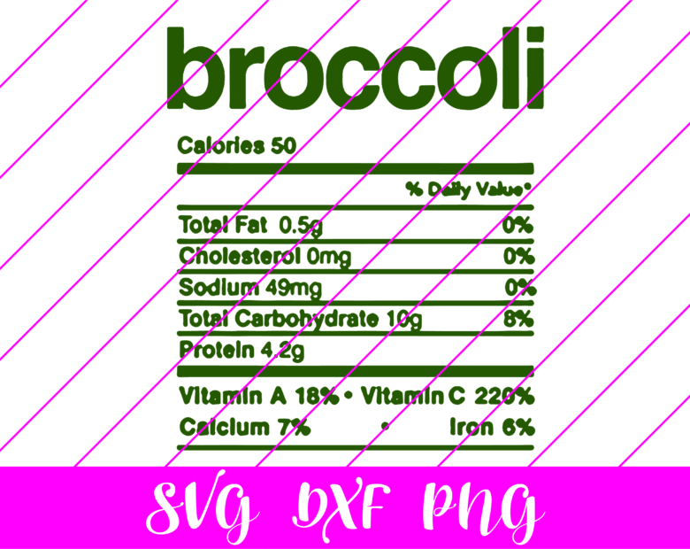 thanksgiving nutrition facts broccoli svg