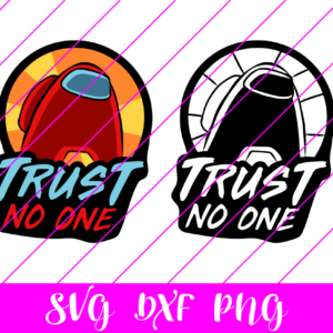 Among us trust no one svg