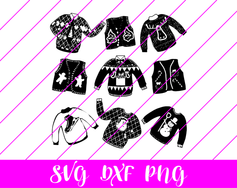 ugly christmas sweaters svg