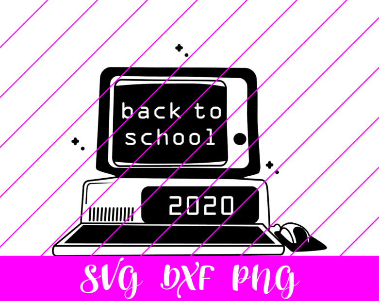 back to school computer svg
