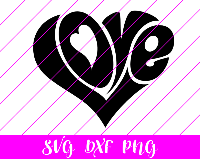 love letters valentines day svg