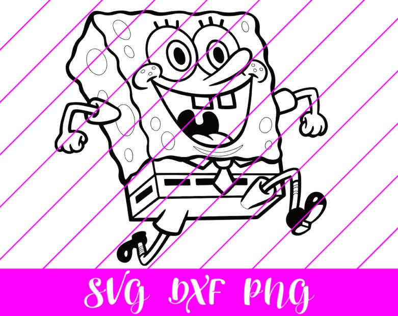 sponge bob bw svg