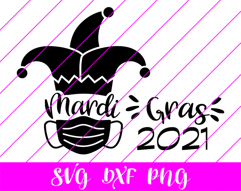 mardi gras face mask svg