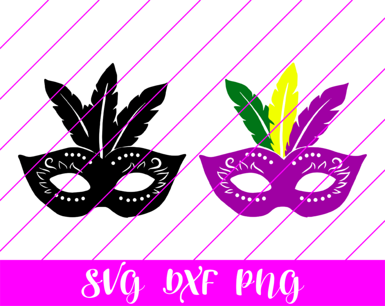 mardi gras mask svg