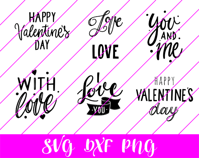 valentines day quotes lettering svg